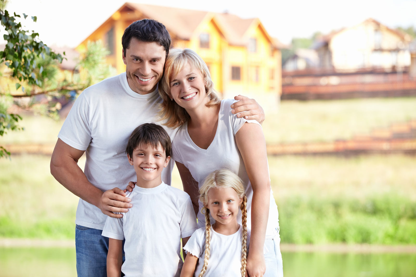 happy-family buying home after their home inspection